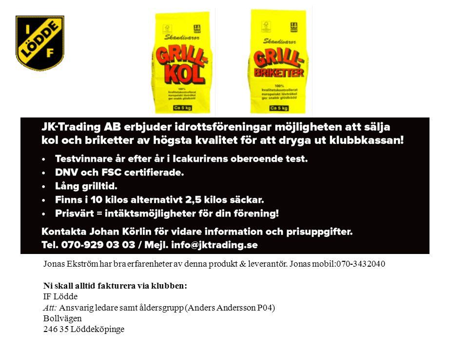Jonas Ekström har bra erfarenheter av denna produkt & leverantör.