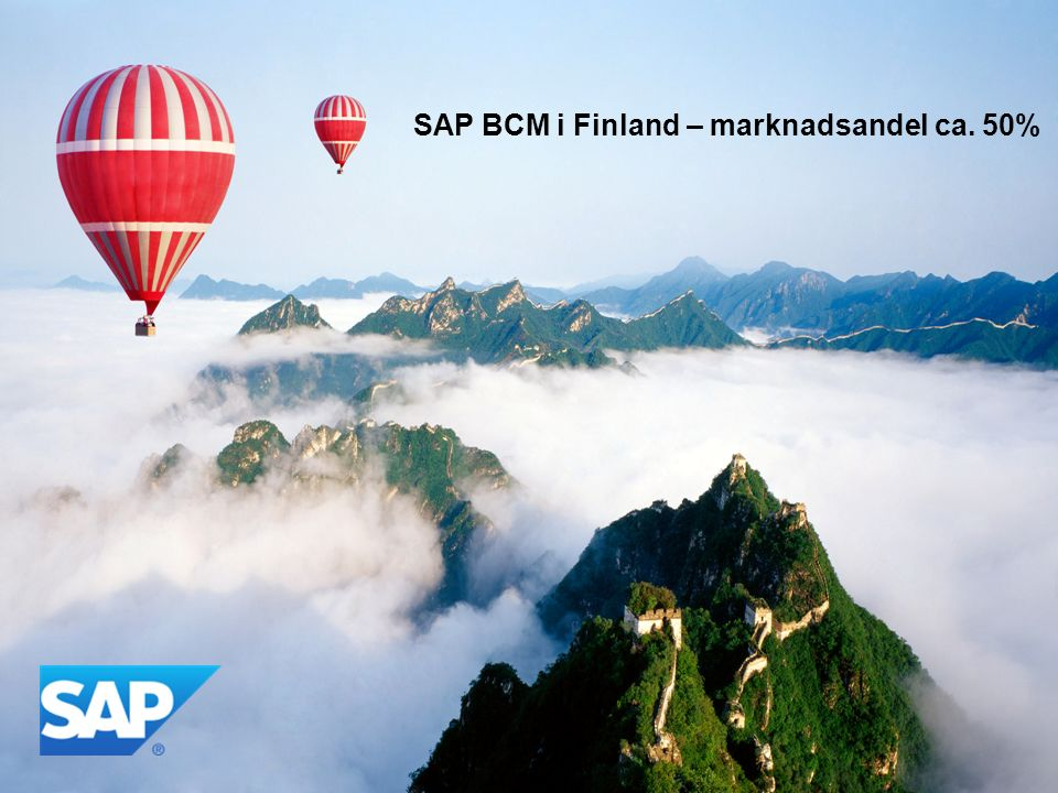 SAP BCM i Finland – marknadsandel ca. 50%