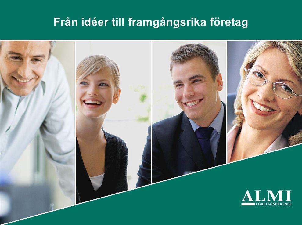 Almi Företagspartner AB 40 kontor över hela landet med 450 medarbetare.