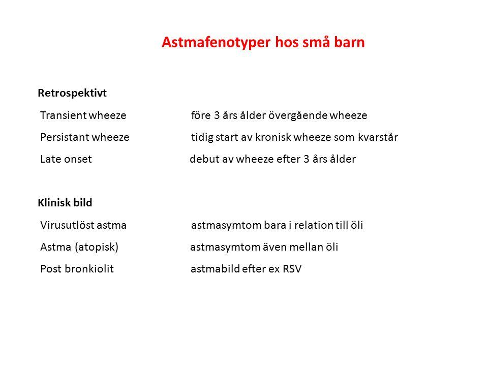 BHR varierar med: luftfuktighet temperatur Luftföroreningar infektioner allergenexponering val av provokationsmetod vilken cut off för fall vald lungfunktionsvariabel?