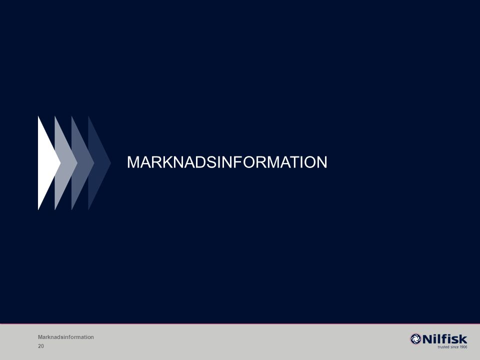 MARKNADSINFORMATION Marknadsinformation 20