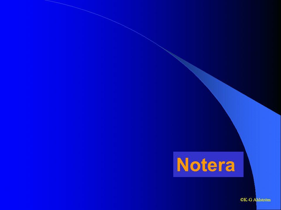 Notera ©K-G Ahlström