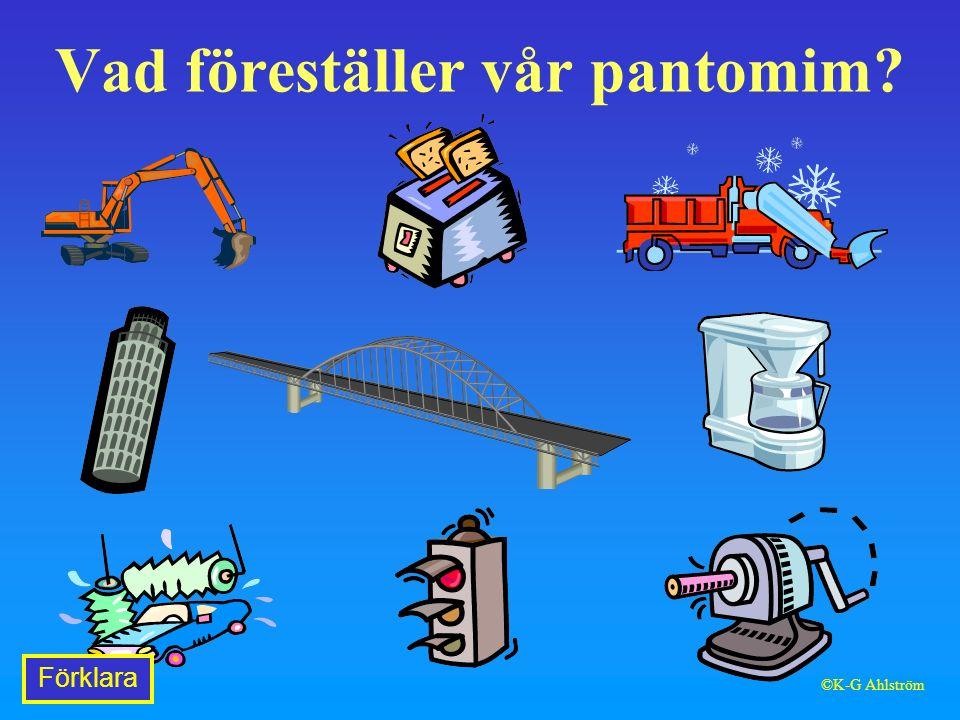 Vad föreställer vår pantomim Förklara ©K-G Ahlström