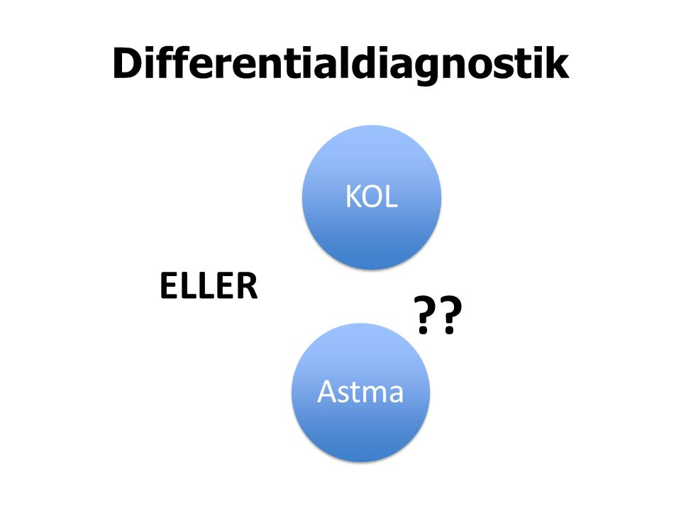 Differentialdiagnostik KOL Astma ELLER ??
