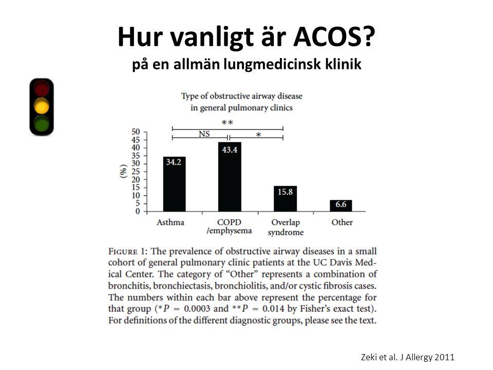 Hur vanligt är ACOS på en allmän lungmedicinsk klinik Zeki et al. J Allergy 2011