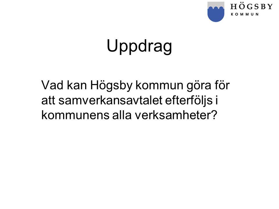 Uppdrag Vad kan Högsby kommun göra för att samverkansavtalet efterföljs i kommunens alla verksamheter?