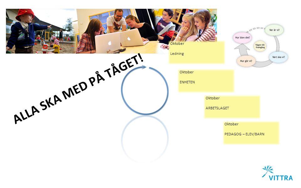 Oktober PEDAGOG – ELEV/BARN ALLA SKA MED PÅ TÅGET.