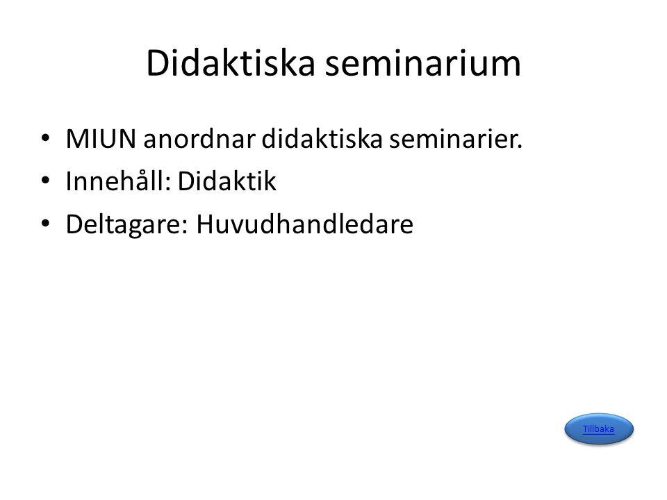 Fördjupande handledning, seminarium Innehåll: Fördjupade handledningssamtal utifrån studentens vfu Deltagare: Huvudhandledare och student Tillbaka