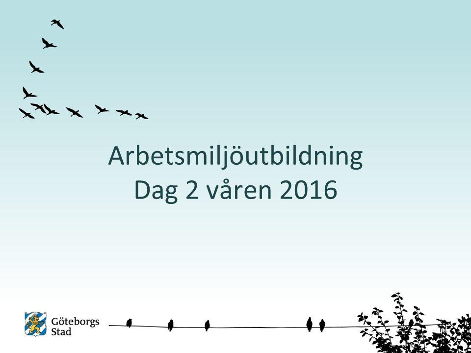 Arbetsmiljöutbildning Dag 2 våren 2016 1