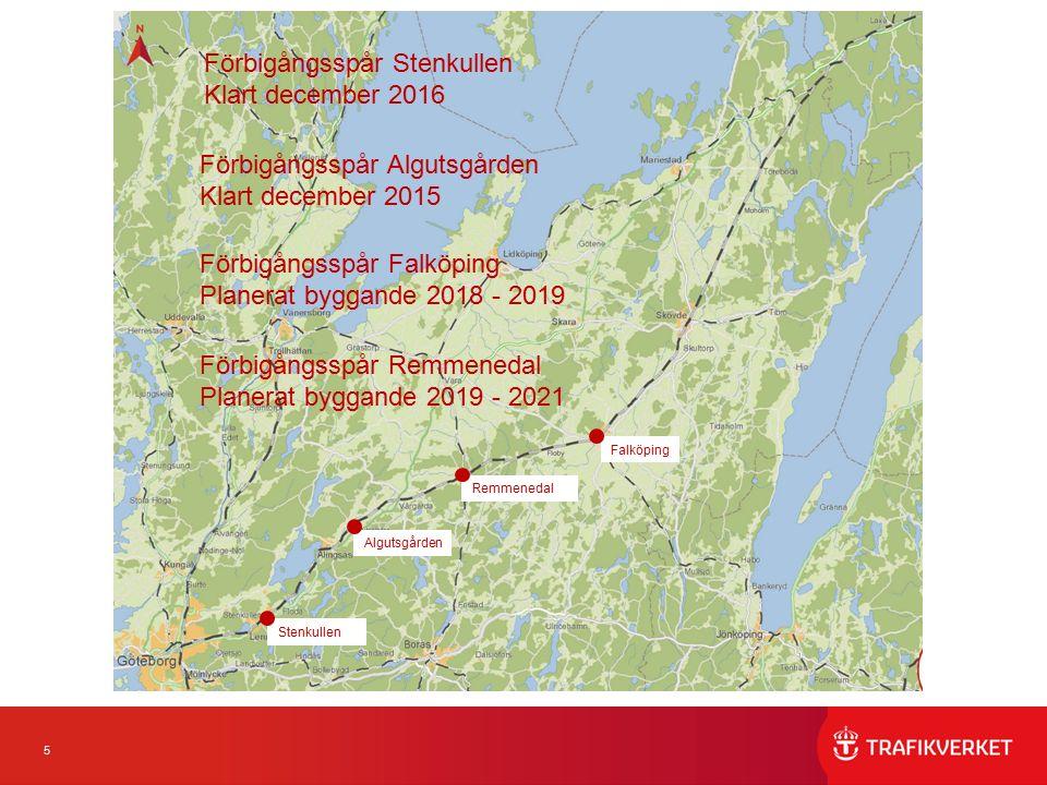 6 Förbigångsspår Algutsgården o Stenkullen Algutsgården Två förbigångsspår vid Algutsgården i Vårgårda kommun.