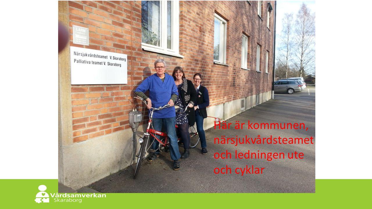 Skaraborgs Sjukhus Här är kommunen, närsjukvårdsteamet och ledningen ute och cyklar