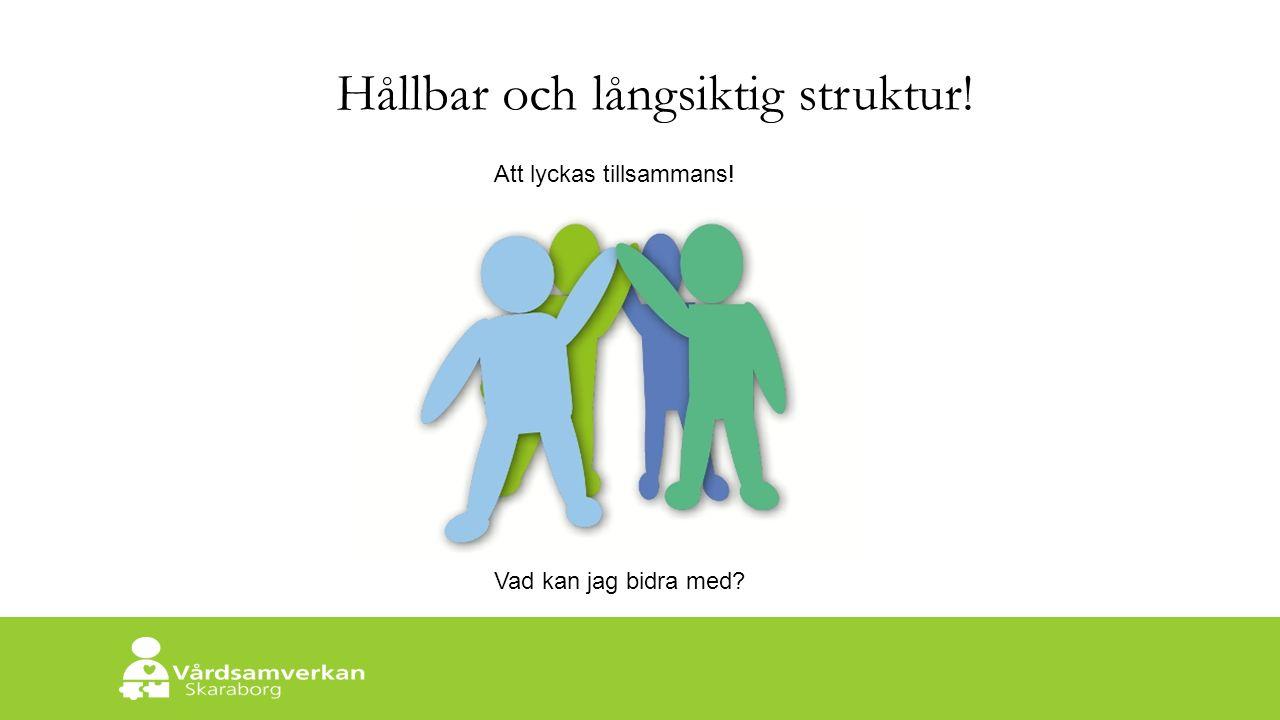 Skaraborgs Sjukhus Hållbar och långsiktig struktur! Att lyckas tillsammans! Vad kan jag bidra med