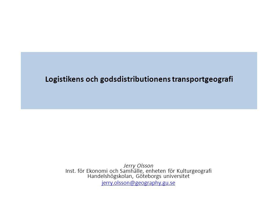 Transport/logistiska tillämpningar Rumsliga begränsningar avtar, d.v.s.