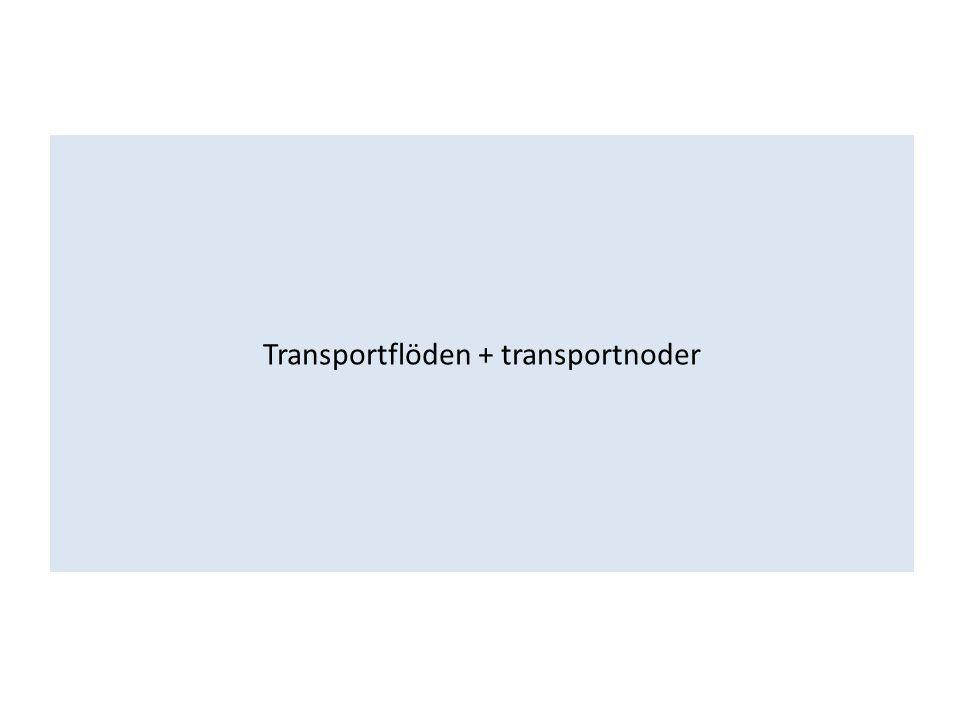 Transportflöden + transportnoder