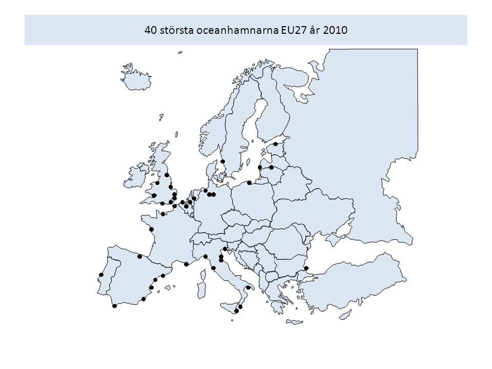 40 största oceanhamnarna EU27 år 2010