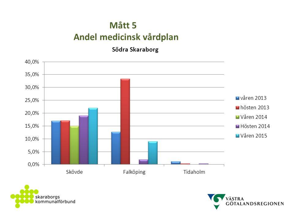 Mått 5 Andel medicinsk vårdplan