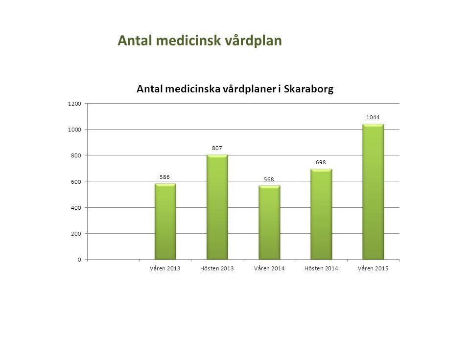 Antal medicinsk vårdplan