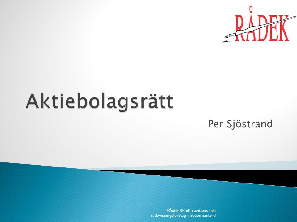 Per Sjöstrand Rådek KB ett revisions och redovisningsföretag i Södermanland