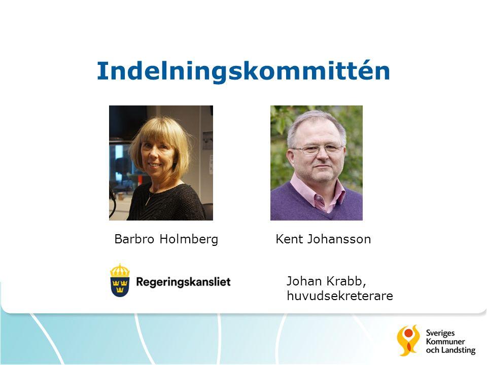 Indelningskommittén Barbro HolmbergKent Johansson Johan Krabb, huvudsekreterare