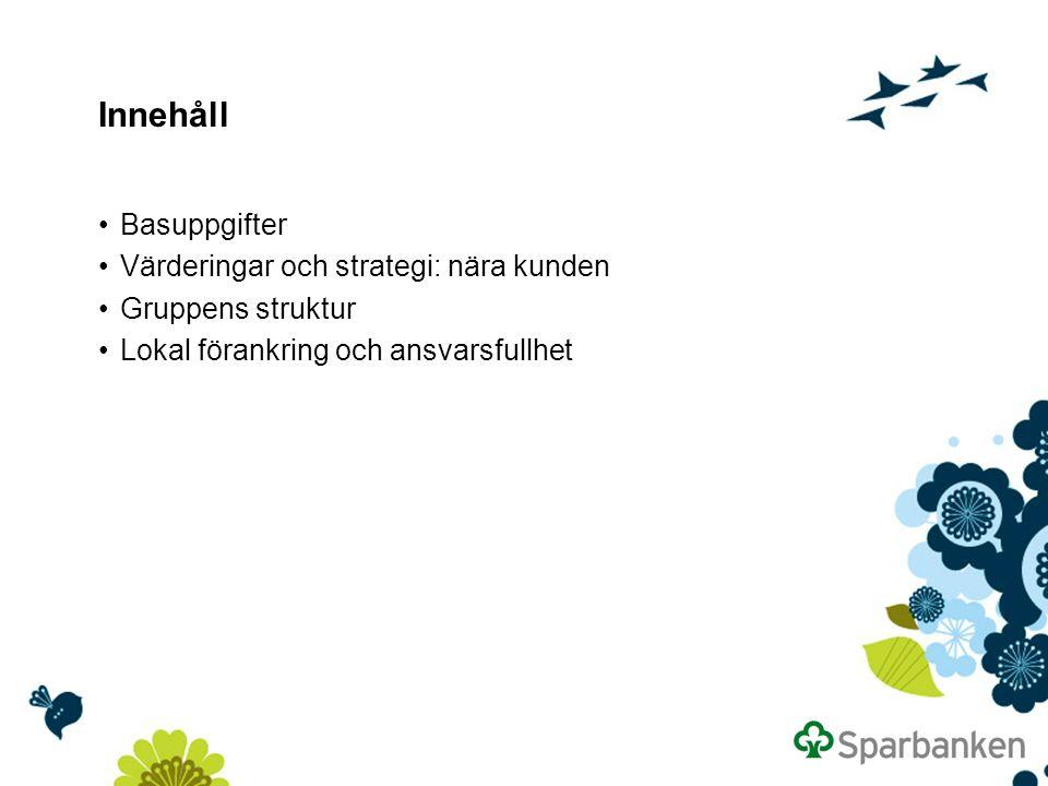 Innehåll Basuppgifter Värderingar och strategi: nära kunden Gruppens struktur Lokal förankring och ansvarsfullhet