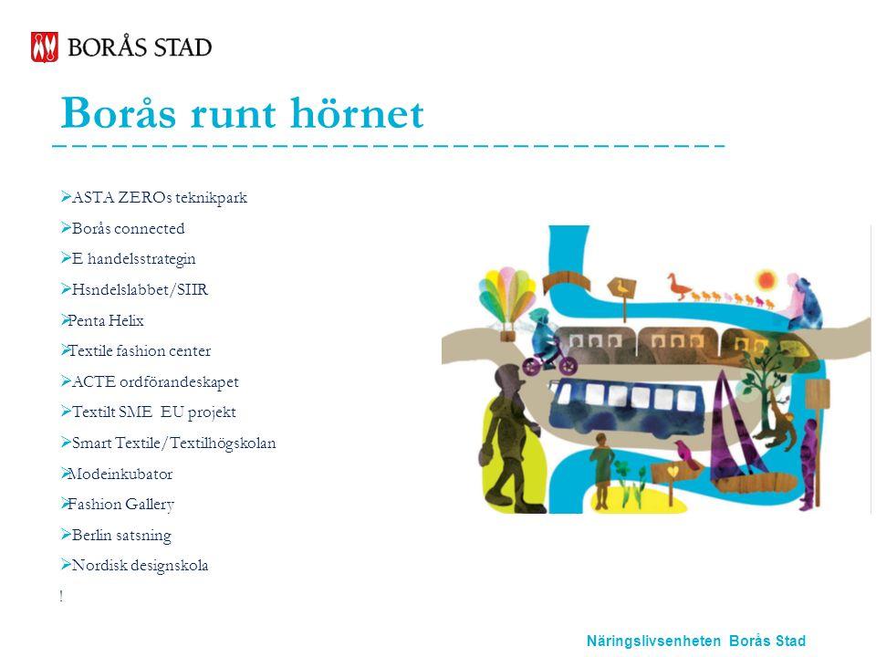 Näringslivsenheten Borås Stad Borås runt hörnet  ASTA ZEROs teknikpark  Borås connected  E handelsstrategin  Hsndelslabbet/SIIR  Penta Helix  Te