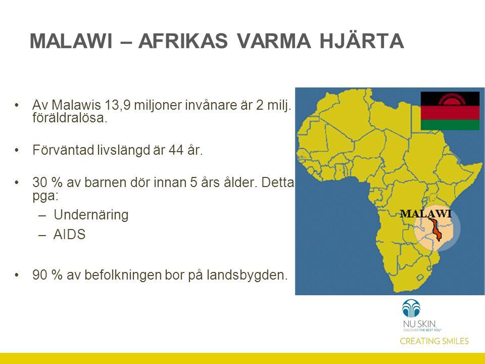 Av Malawis 13,9 miljoner invånare är 2 milj. föräldralösa.