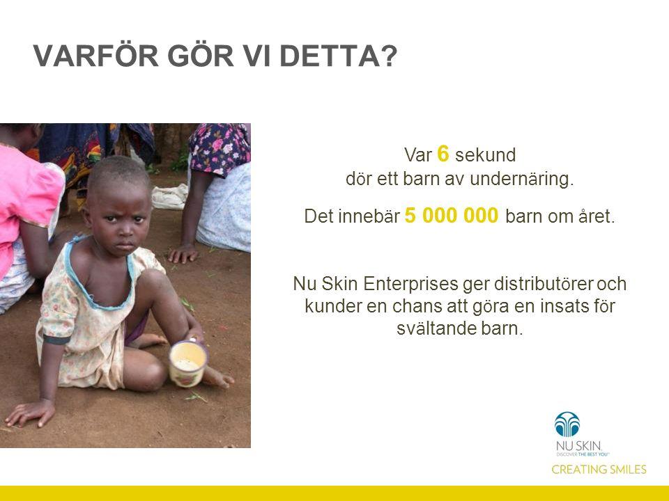 VISAR SKILLNADEN Med VitaMeal kan du bryta den onda cirkeln och r ä dda miljontals barn fr å n undern ä ring.