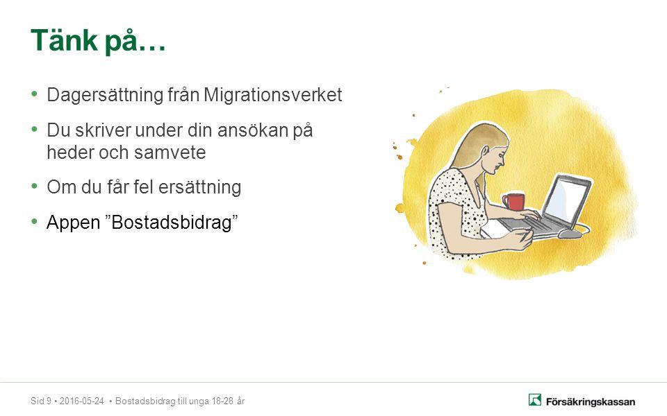Sid 10 2016-05-24 Bostadsbidrag till unga 18-28 år Besök oss Servicekontor över hela Sverige