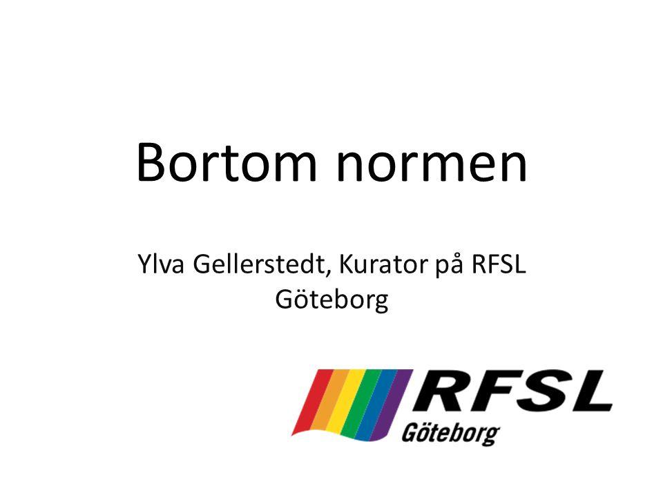 Bortom normen Ylva Gellerstedt, Kurator på RFSL Göteborg