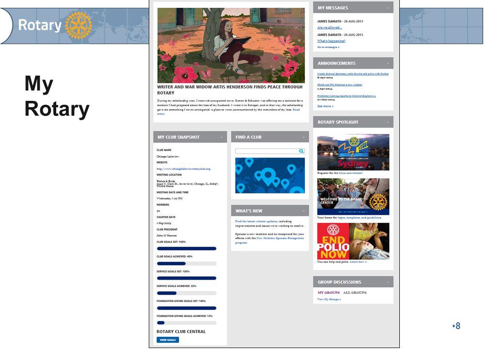 Finlands Rotary © 2015 39 FINLANDS ROTARYS MEDLEMSREGISTER Medlemsregistret är en central del av kommunikationen inom Rotary och utgör grunden för den tryckta Rotary Matrikeln Klubbsekreteraren svarar för att medlems- och övriga uppgifter blir uppdaterade i registret  Klubbmedlemmarna kan inte själva uppdatera sina uppgifter i registret  Uppdateringar göres vartefter förändringar sker  Finlands Rotarys och distriktens postningar till klubbarna baserar sig på adresserna i medlemsregistret.