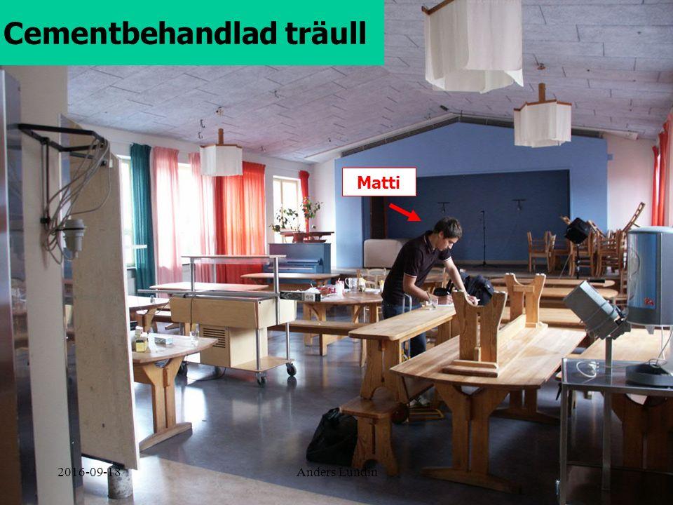 Cementbehandlad träull Matti 2016-09-18Anders Lundin