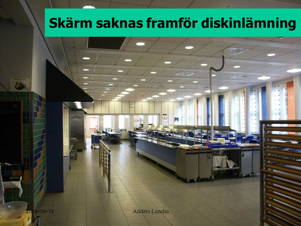 Skärm saknas framför diskinlämning 2016-09-18Anders Lundin