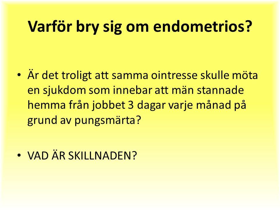 Varför bry sig om endometrios.