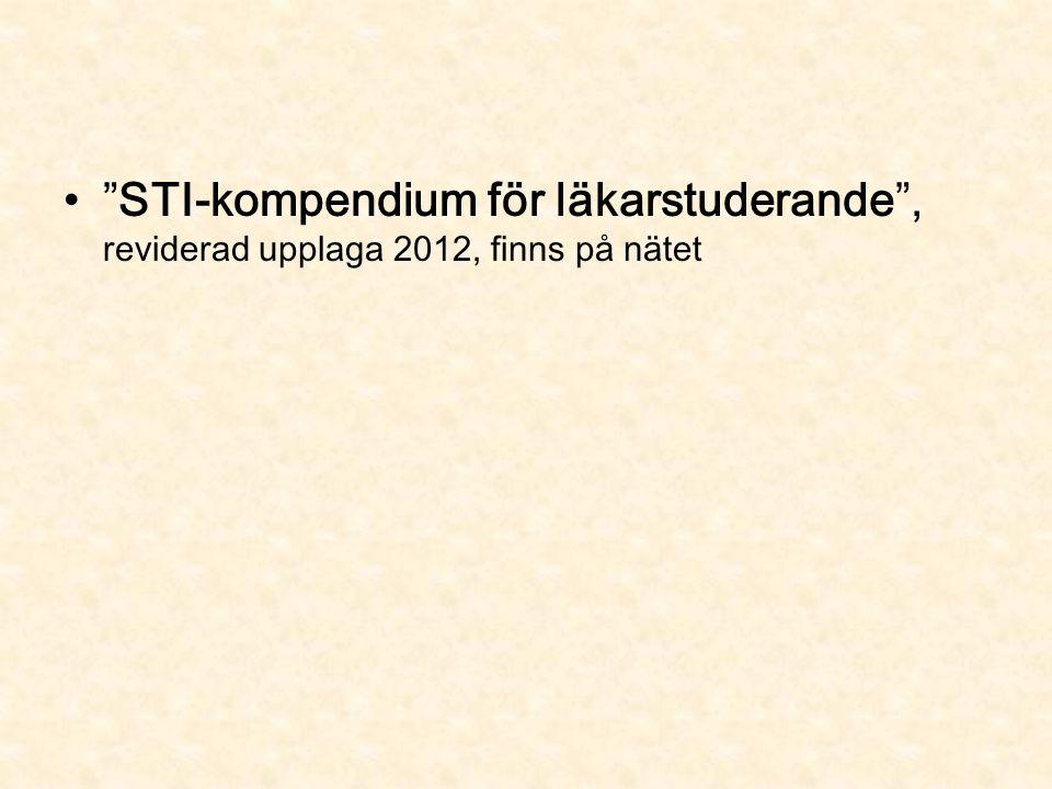STI-kompendium för läkarstuderande , reviderad upplaga 2012, finns på nätet