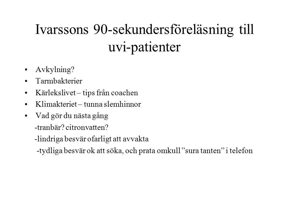Ivarssons 90-sekundersföreläsning till uvi-patienter Avkylning.