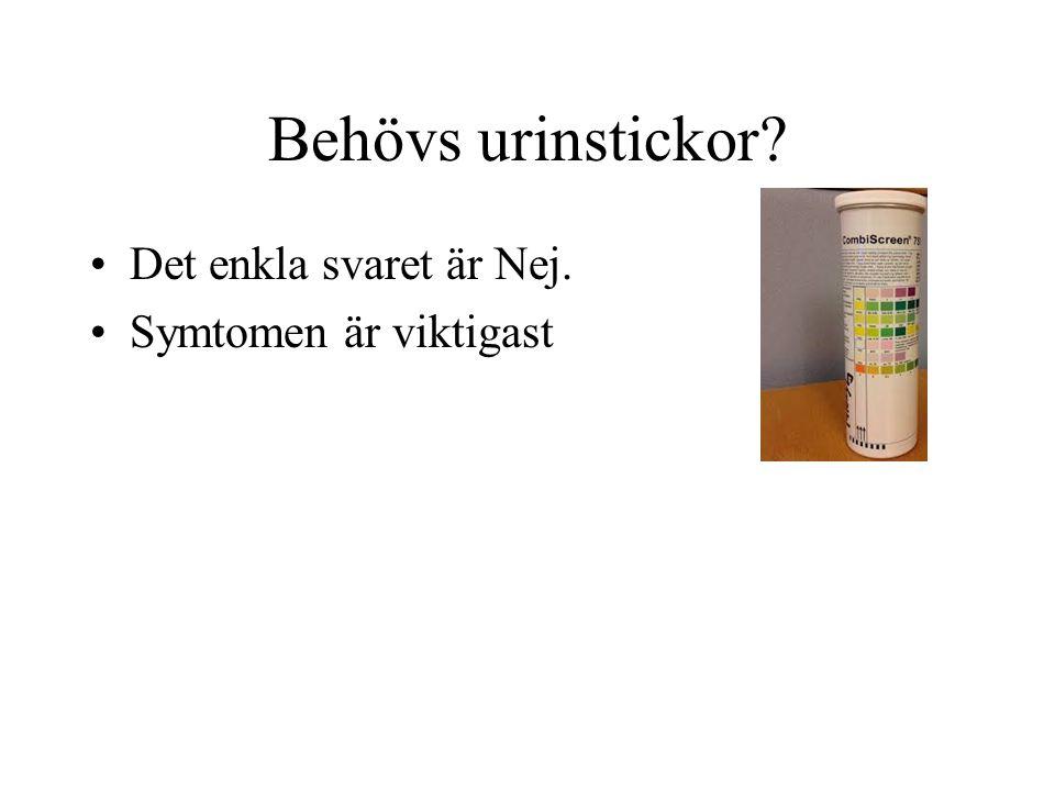 Vad växer i urinen.Tarmbakterier från patienten E coli Staf saprophyticus Enterococcus f.