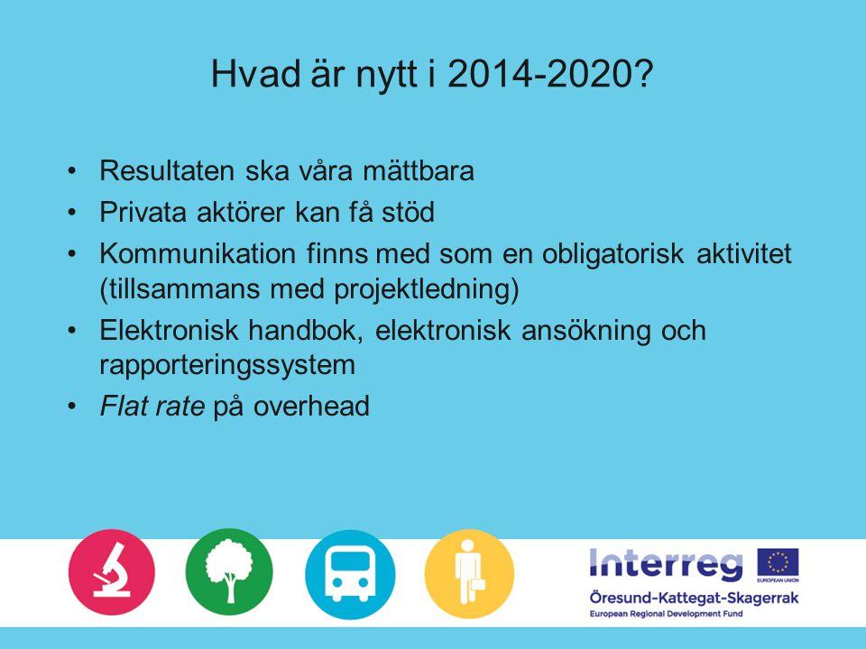 Hvad är nytt i 2014-2020.