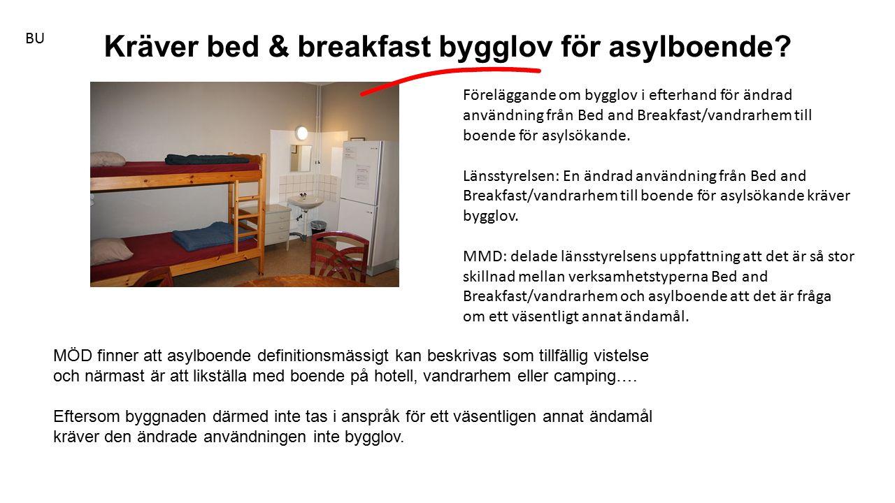 MÖD finner att asylboende definitionsmässigt kan beskrivas som tillfällig vistelse och närmast är att likställa med boende på hotell, vandrarhem eller camping….