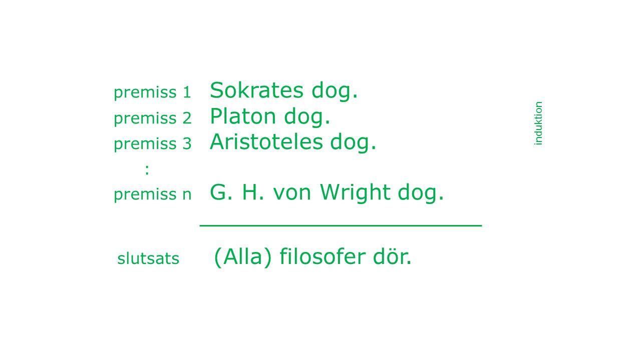 premiss 1 Sokrates dog. premiss 2 Platon dog. premiss 3 Aristoteles dog.