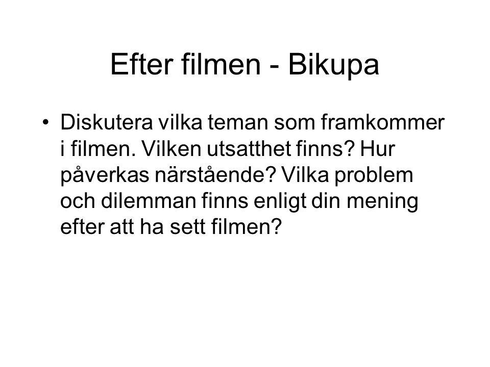 Efter filmen - Bikupa Diskutera vilka teman som framkommer i filmen.