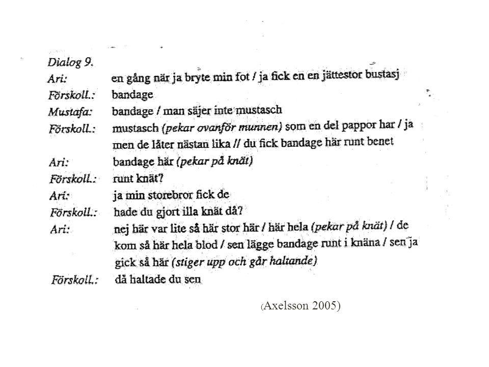 ( Axelsson 2005) 17