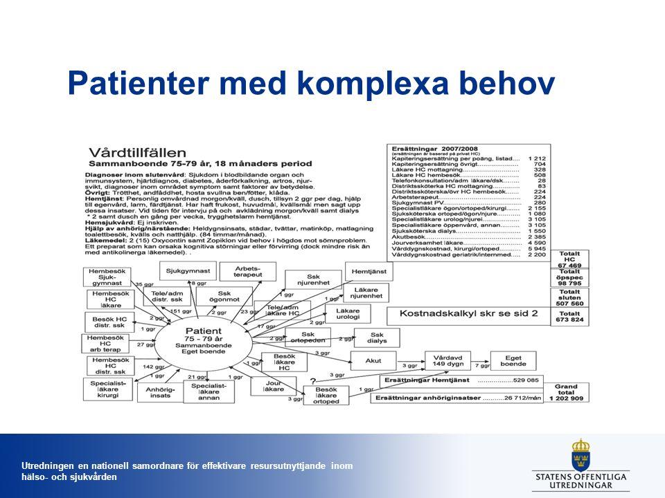Utredningen en nationell samordnare för effektivare resursutnyttjande inom hälso- och sjukvården Patienter med komplexa behov