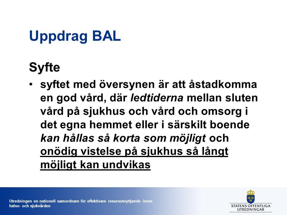 Utredningen en nationell samordnare för effektivare resursutnyttjande inom hälso- och sjukvården Västra Skaraborg