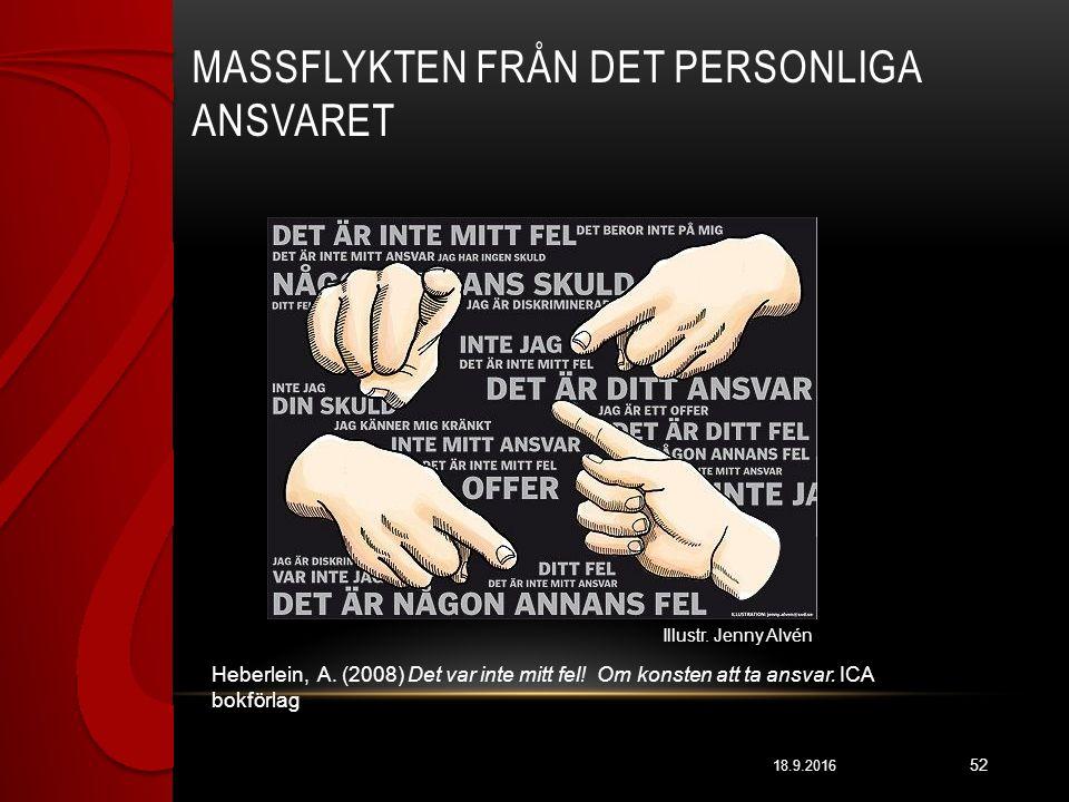 MASSFLYKTEN FRÅN DET PERSONLIGA ANSVARET 18.9.2016 52 Heberlein, A.