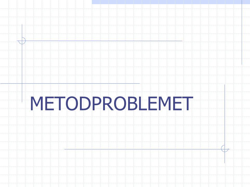 METODPROBLEMET