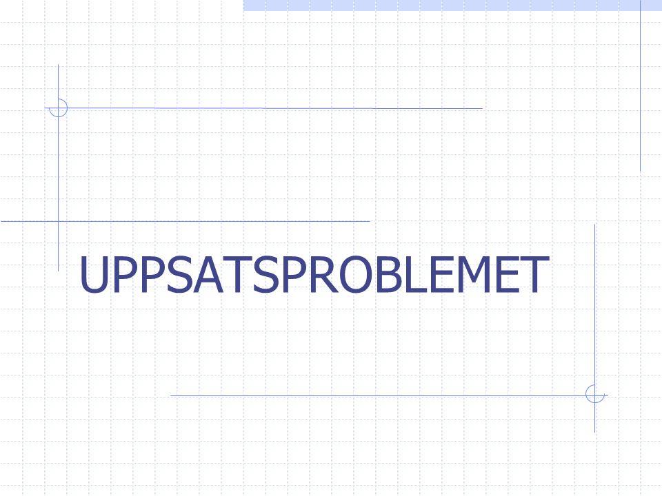 UPPSATSPROBLEMET