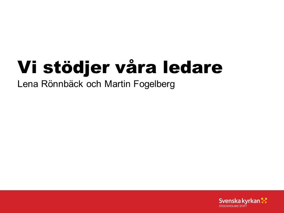 Vi stödjer våra ledare Lena Rönnbäck och Martin Fogelberg