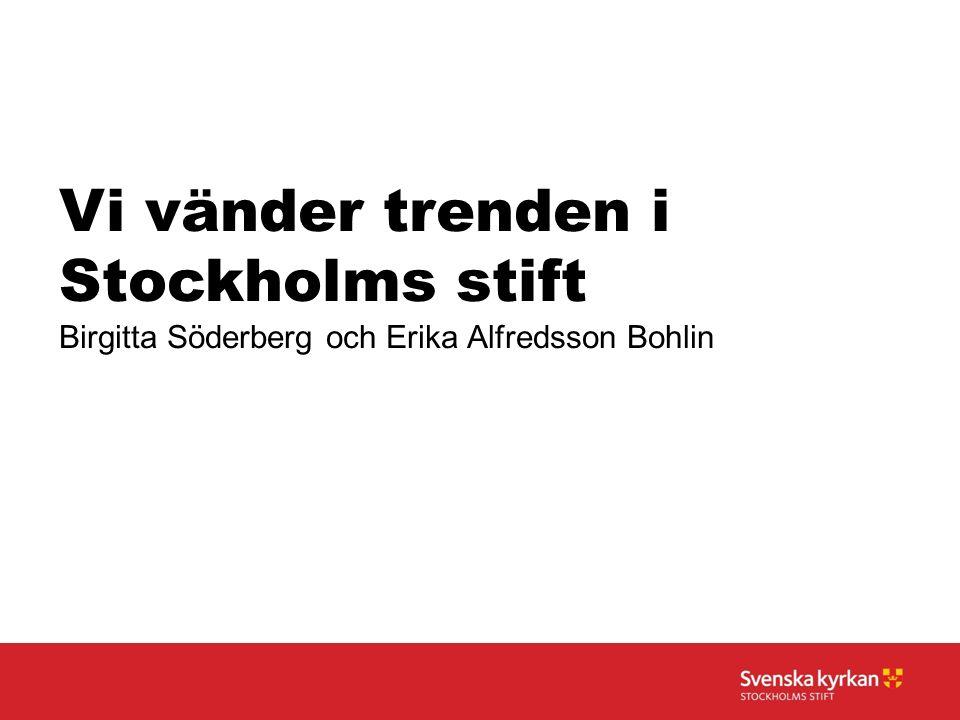 Vi vänder trenden i Stockholms stift Birgitta Söderberg och Erika Alfredsson Bohlin