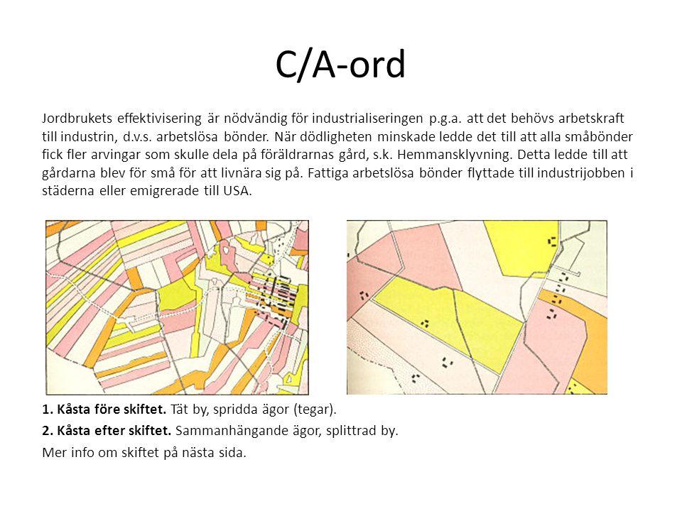 C/A-ord Jordbrukets effektivisering är nödvändig för industrialiseringen p.g.a.