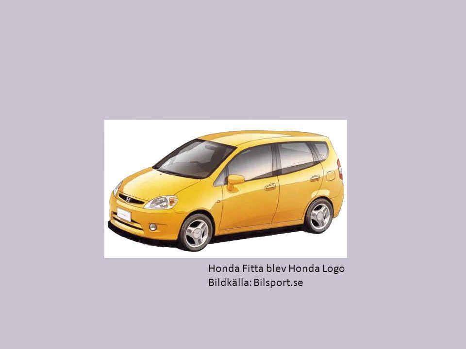 Honda Fitta blev Honda Logo Bildkälla: Bilsport.se